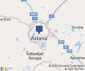 Bing Map of Glasgow United Kingdom