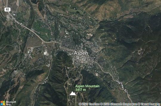 Map of Aspen, Colorado