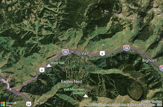 Map of Vail, Colorado