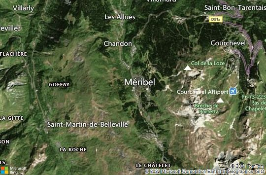 Map of Méribel