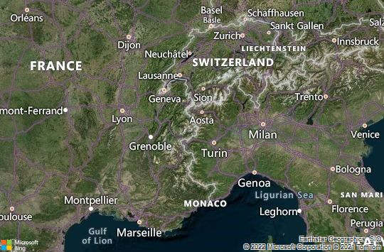 Map of Val d'Isère