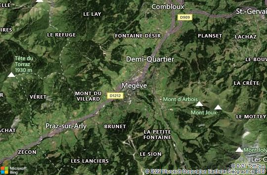 Map of Megève