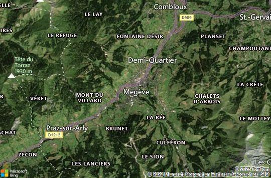 Map of Megève