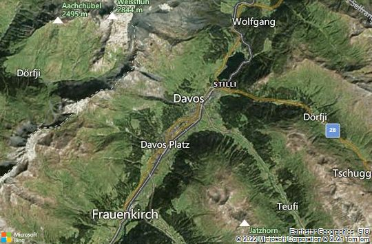 Map of Davos