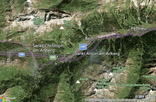 Map of St. Anton