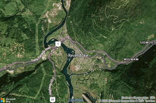 Map of Revelstoke, BC