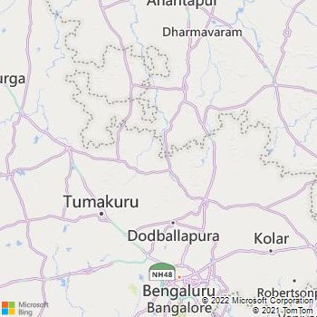Anantapur District  Map . Surrounded by Bellary District ,Cuddapah District ,Kurnool District , .