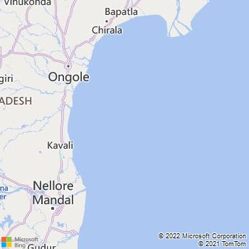 Spsr Nellore District  Map . Surrounded by Prakasam District ,Cuddapah District ,Thiruvallur District , .