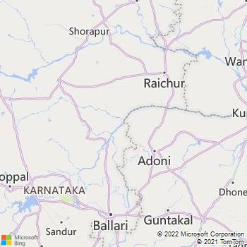 Kurnool District  Map . Surrounded by Raichur District ,Mahbubnagar District ,Anantapur District , .