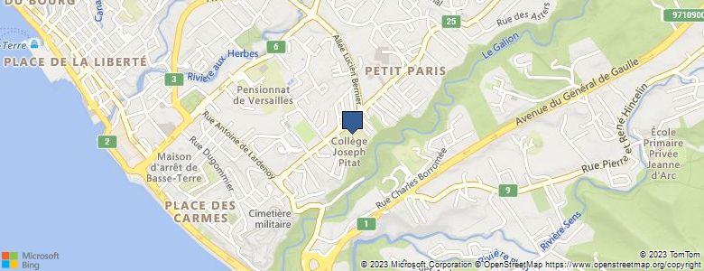 Localisation de CollègeJOSEPH PITAT - Cliquez pour voir l'itinéraire