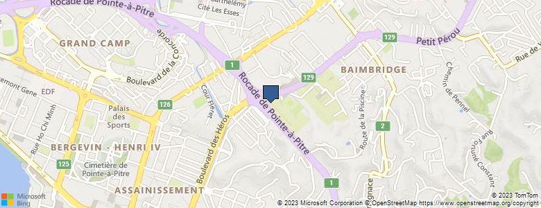 Localisation de Lycée polyvalentCHEVALIER DE SAINT-GEORGES - BAIMBRIDGE 2 (EX CARAIBES) - Cliquez pour voir l'itinéraire