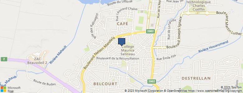 Localisation de CollègeMAURICE SATINEAU - Cliquez pour voir l'itinéraire