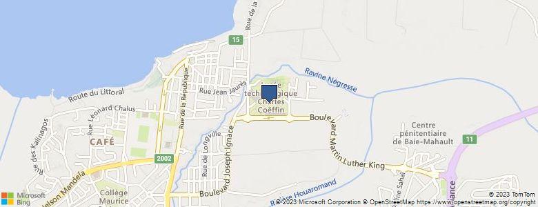 Localisation de Lycée polyvalentCHARLES COEFFIN - Cliquez pour voir l'itinéraire