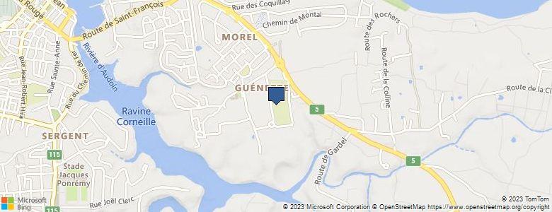 Localisation de CollègeGUENETTE  - Cliquez pour voir l'itinéraire