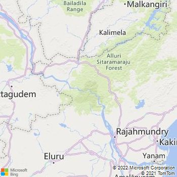 West Godavari District  Map . Surrounded by Krishna District ,Guntur District ,Khammam District , .