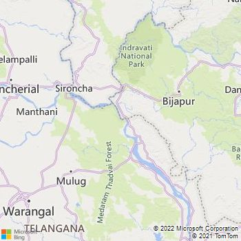 Warangal District  Map . Surrounded by Karimnagar District ,Khammam District ,Nizamabad District , .