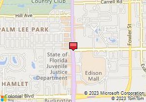 Map of Avis Location: Sears Auto Center - Edison Mall