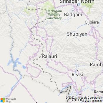 Poonch District  Map . Surrounded by Rajauri District ,Baramulla District ,Shopian District , .
