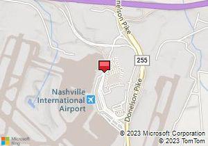 Map of Avis Location: Nashville International Airport