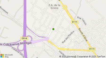 Plan d'accès au taxi Argelès Taxis