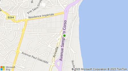 Plan d'accès au taxi Association Les Taxis Oranges Bastiais