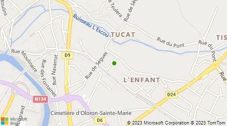 Plan d'accès au taxi Louis Michel Taxi