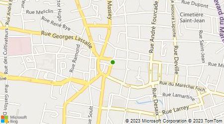 Plan d'accès au taxi Taxis de la Ville de Tarbes