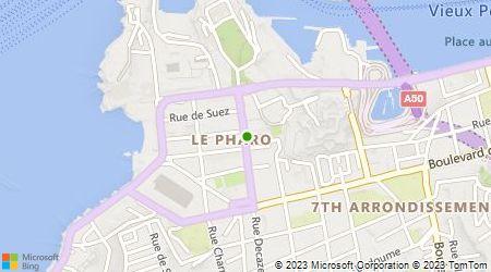 Plan d'accès au taxi TAXI MARSEILLE AZUR