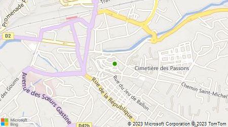 Plan d'accès au taxi Association Radio Taxis Aubagne