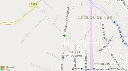 Plan d'accès au taxi ABCE Jean-Claude Grémont
