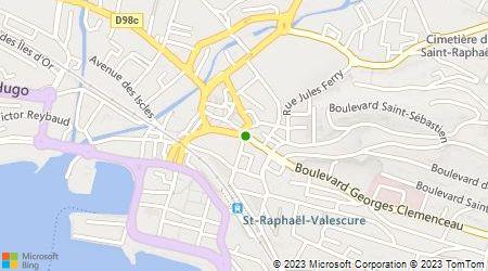Plan d'accès au taxi Central Radio Taxis Gare de St Raphaël