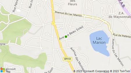 Plan d'accès au taxi Taxi-Maïté