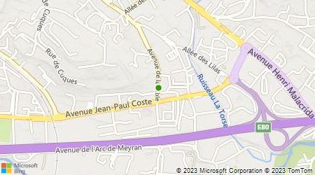 Plan d'accès au taxi ABC Pays d'Aix Taxis