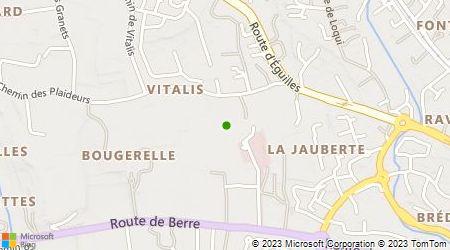 Plan d'accès au taxi Aix Taxi - Europe Gare routière