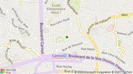 Plan d'accès au taxi Elofer Sigmund Taxi Cannes