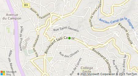 Plan d'accès au taxi Allo Taxis Cannes
