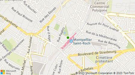 Plan d'accès au taxi T.R.A.M (Taxis Radio Artisans Montpellier)