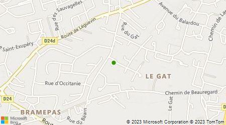 Plan d'accès au taxi Abonnés Taxi Nougalliat