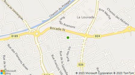 Plan d'accès au taxi David Taxi Montpellier