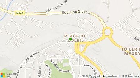Plan d'accès au taxi Juaneda Jean-Luc