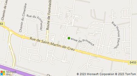 Plan d'accès au taxi Grimaud Julien