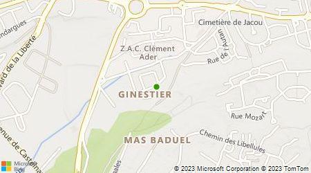 Plan d'accès au taxi Taxis Artisans Agglomération Montpellier (T.A.A.M)