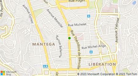 Plan d'accès au taxi Montesinos Thierry