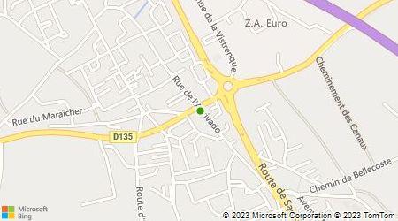 Plan d'accès au taxi Malzac Taxi