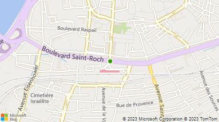 Plan d'accès au taxi Taxi-Radio-Avignonnais