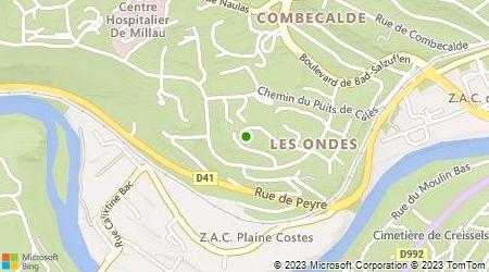 Plan d'accès au taxi 3T Aveyron