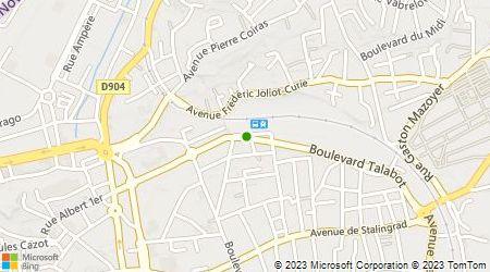 Plan d'accès au taxi ABC Alès Taxi