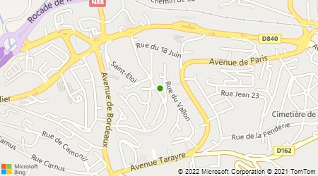 Plan d'accès au taxi Alpha Taxi Rodez
