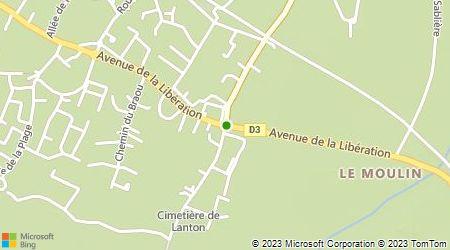 Plan d'accès au taxi Allo Andernos Lanton Taxi