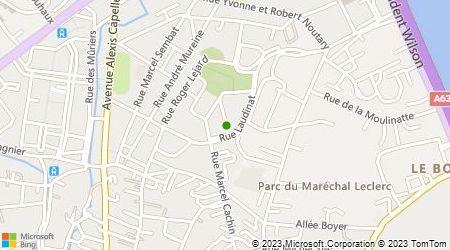 Plan d'accès au taxi Bordeaux Taxi 33